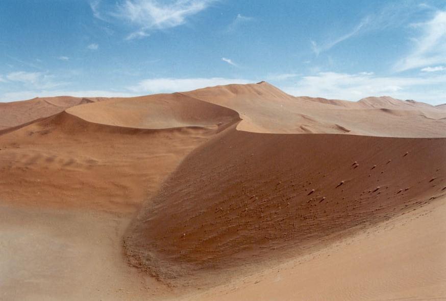 Bilancio idrico. Dune nel deserto dl Namib