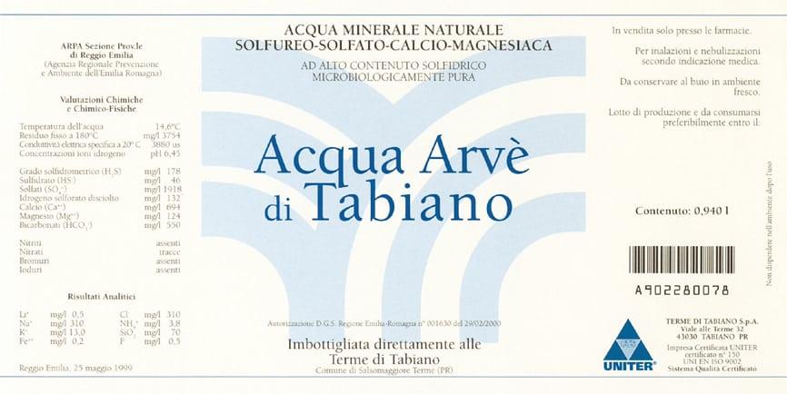 Acqua Arvè di Tabiano