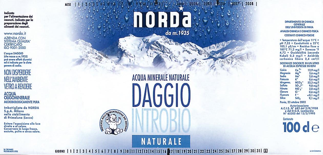 Acqua Norda Daggio Introbio