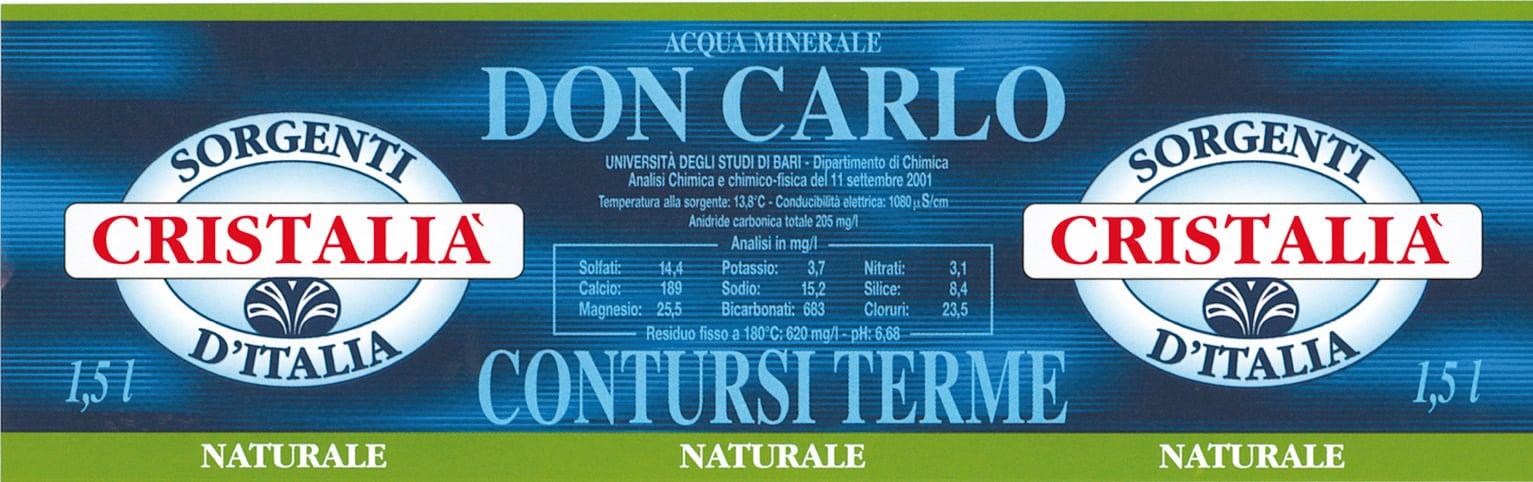 Acqua Don Carlo Sorgenti Cristalià