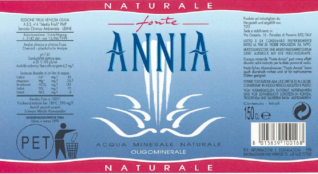 Acqua Fonte Annia