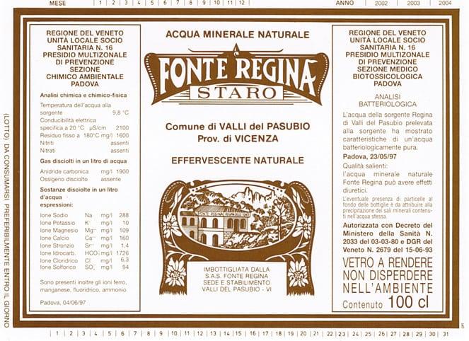 Acqua Fonte Regina Staro