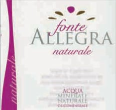 Acqua Fonte Allegra