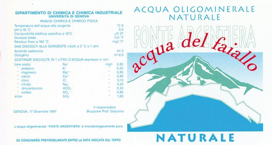 Acqua del Faiallo – Fonte Argentiera