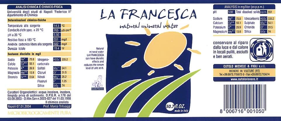 Acqua La Francesca