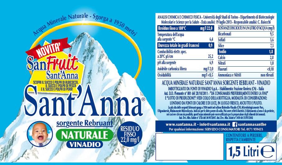 Acqua Sant'Anna Sorgente Rebruant