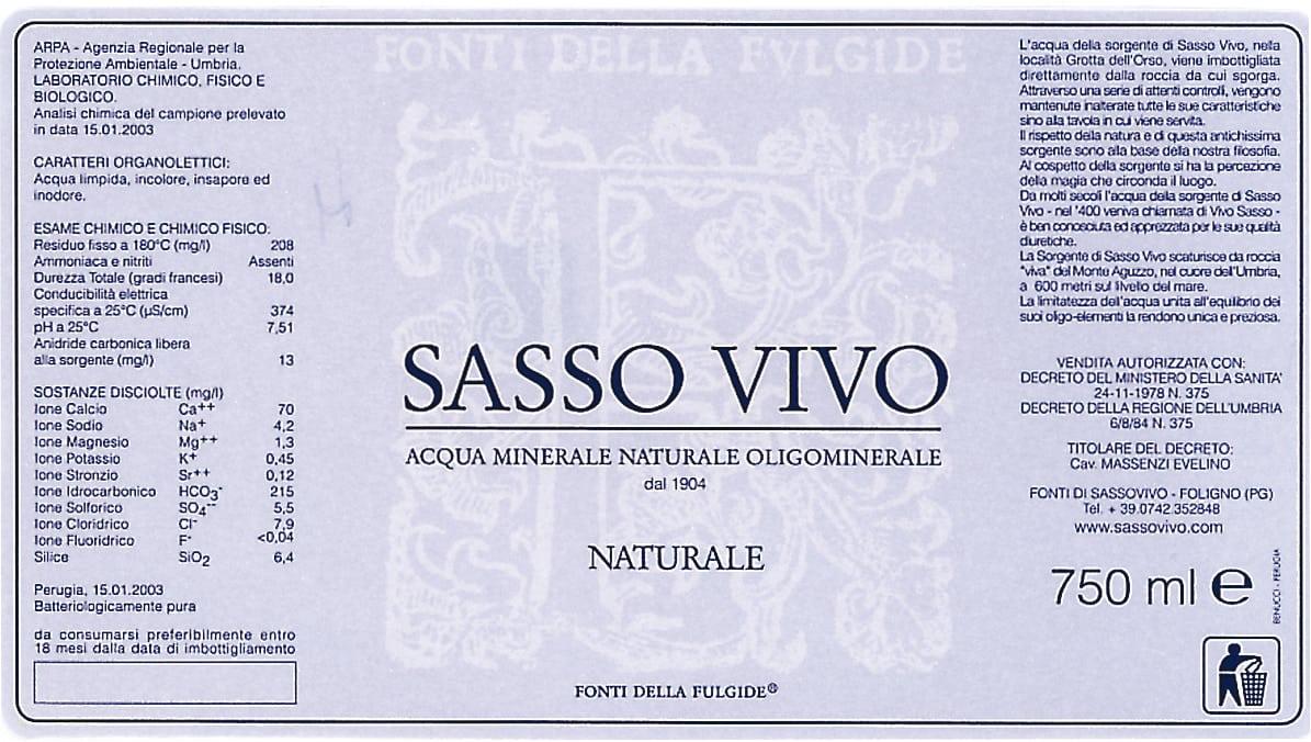 Acqua Sasso Vivo