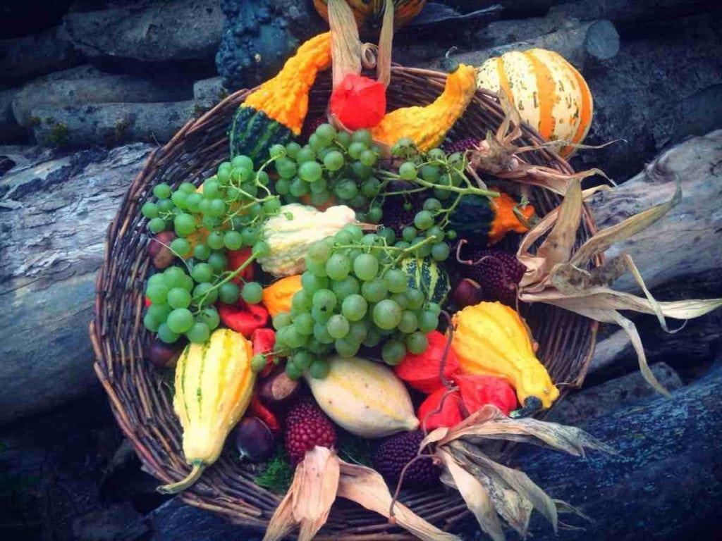Frutta e verdura di stagione spesa di settembre