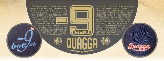 abiti fatti con bottiglie di plastica Quagga