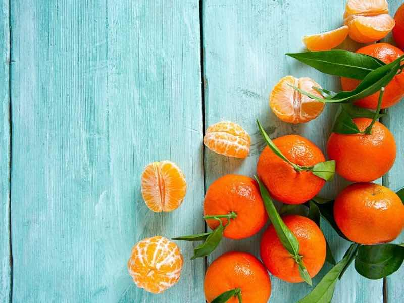 frutta e verdura di stagione spesa di novembre clementine