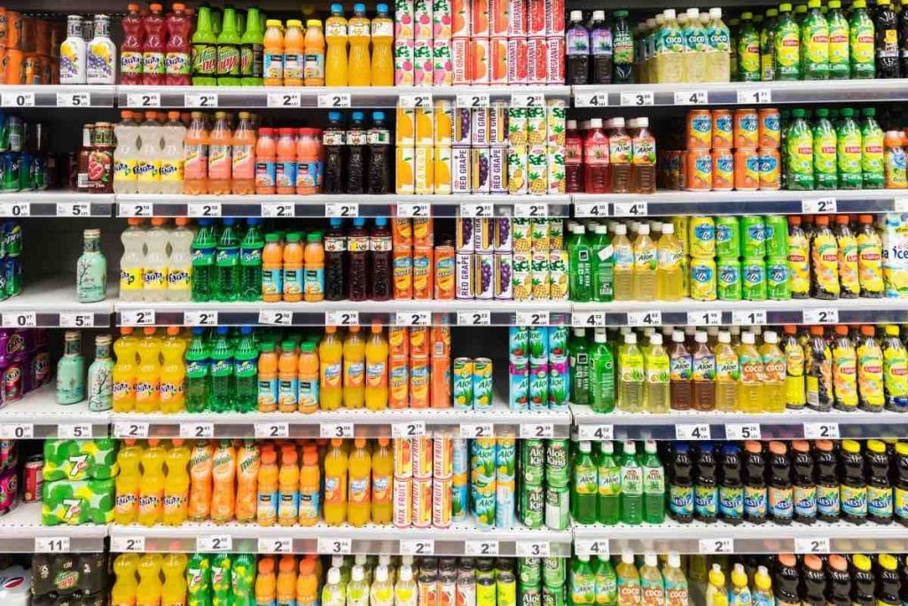 Bevande zuccherate ai bambini