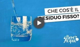 Cos'è il residuo fisso dell'acqua minerale
