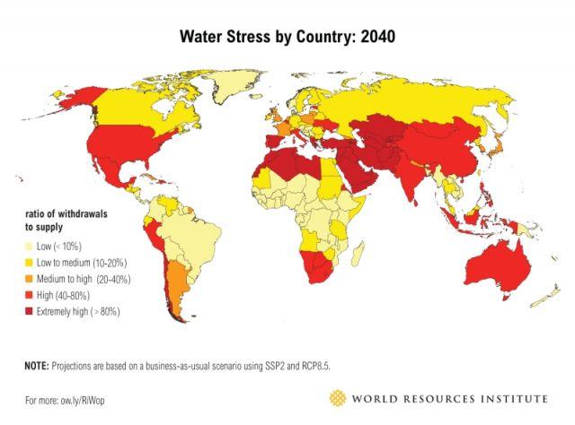 stress idrico mappa